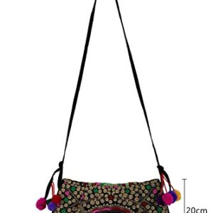 niceEshop(TM) Handmade Ethnic Style Embroidery Tote Shoulder Messenger Bag