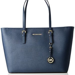 Michael Kors 30T5GTVT2L406 Jet Set Travel Bolsa de Tela para la Playa, Color Navy