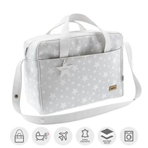 Cambrass Etoile - Bolso maternal, 20 x 44 x 33 cm, color gris