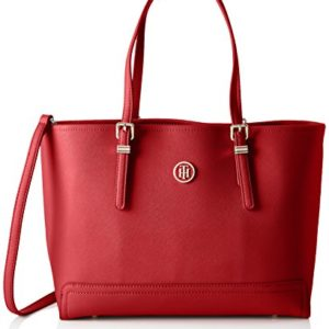 Tommy Hilfiger - Honey Med Tote, Bolsos de mano Mujer, Rouge (Tommy Red), 14x27x40 cm (W x H L)