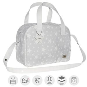 Cambrass Etoile - Bolso maternal, 18 x 44 x 33 cm, color gris