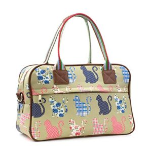 Lilley - Bolso de mano, con estampado de gatos, beige Lilley - Talla 1 UK / 33 EU - Beige