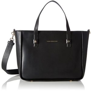 Tommy Hilfiger - City Leather Tote, Shoppers y bolsos de hombro Mujer, Blau (Black), 16x30x36 cm (B x H T)