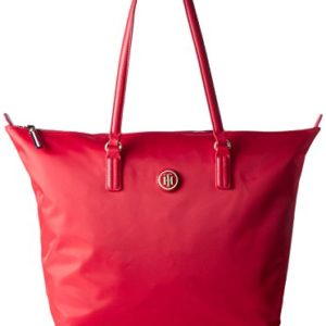 Tommy Hilfiger - Poppy Tote, Bolsos totes Mujer, Rot (Tommy Red), 14x32x47 cm (W x H D)
