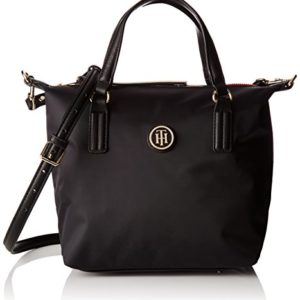Tommy Hilfiger Poppy Small Tote, Bolso Totes para Mujer, Negro (Black), 23x15x22 cm (W x H x L)