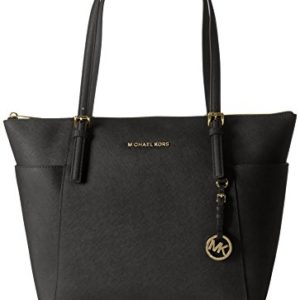 Michael Kors Jet Set Top Zip EW Large Tote Bolso totes, Mujer, Negro (Black)