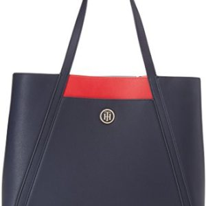 Tommy Hilfiger In Bag Workbag Cb, Bolso Totes para Mujer, Varios Colores (Tommy Navy Tommy Red), 16x28x40 cm (W x H x L)