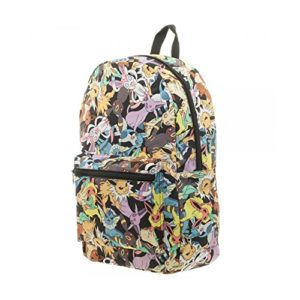BIOWORLD Pokemon Eevee Evolution - Mochila con impresión sublimada de Pokemon Eevee