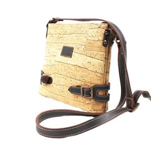 CROSS BODY BAG FOR WOMAN by Dux Cork GENUINE PORTUGUESE PREMIUM Cork Fabric Leather Fashion Designer