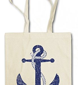 OLDSCHOOL ANCHOR VINTAGE LOGO I Hipster Shopping Cotton Bag Cestas Bolsos Bolsas de la compra reutilizables - ancla Rockabilly Star Sailor velero Tattoo
