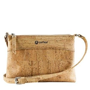 Crossbody Bag Women - Vegan Handbag Cross-Body - Cork Purse - Light Brown Cork Handbag